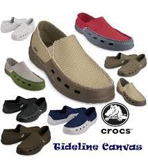 Sepatu Pria Crocs Tideline Canvas Pria Sepatu Anak Sepatu