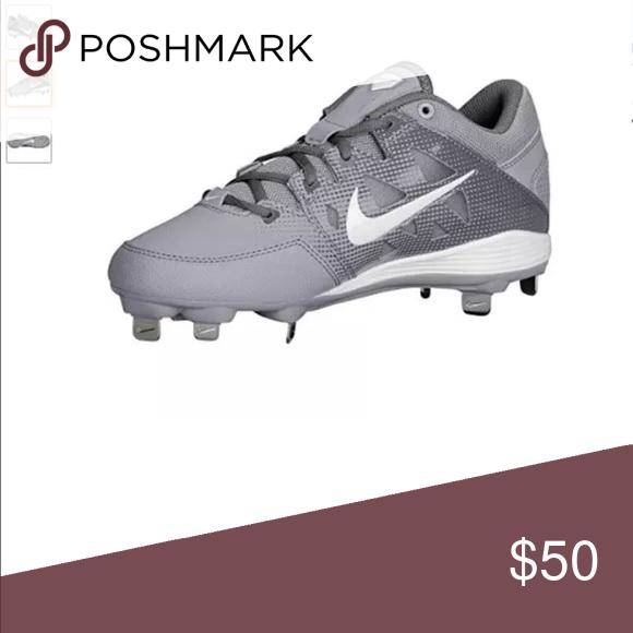 Nike Hyper Diamond Gray Softball Cleats