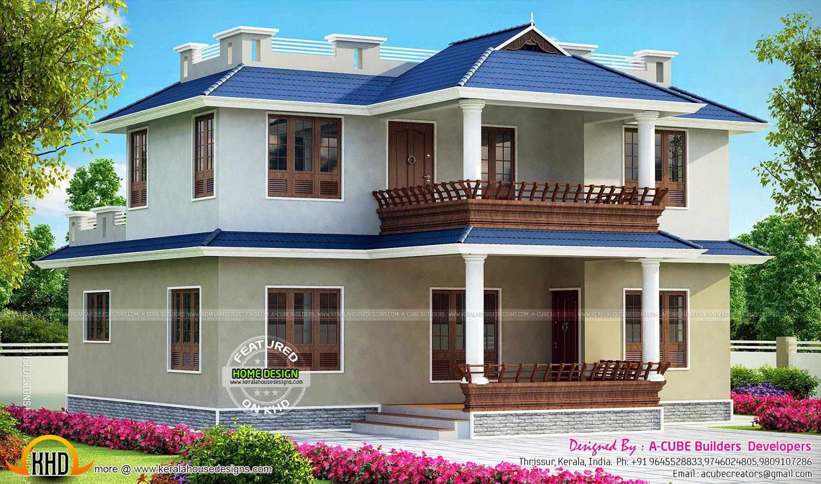 Double Storied Kerala Home Design And Floor Plans