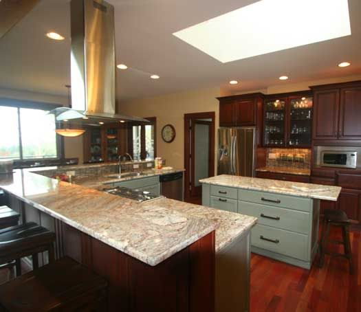 Kitchen Island Accent Color: Kitchen Remodel With Island In Poulsbo, WA. Designed By