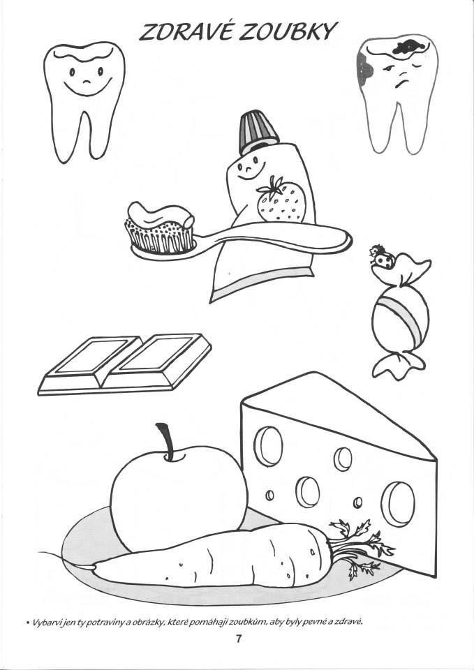 Teeth And Food Pracovni Listy Education Dental Health A Health