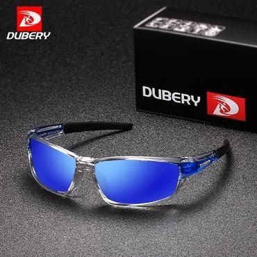808d04dd8a DUBERY Sunglasses Men s Polarized Driving Sport Sun Glasses For Men Women  Square Color Mirror Luxury Brand Designer 2017