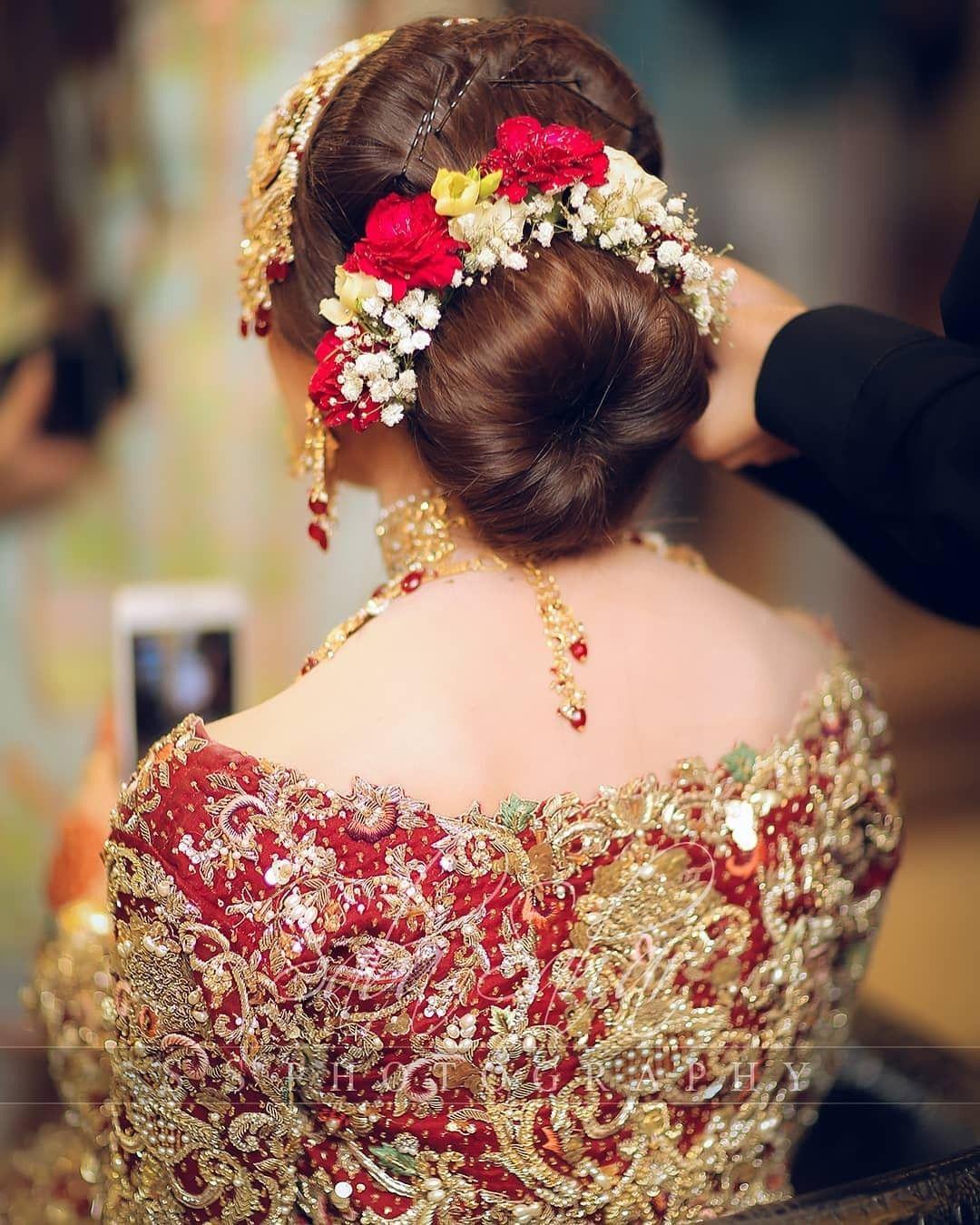 Pakistani Hairstyles Buns: Pakistani Bridal Hairstyles, Pakistani