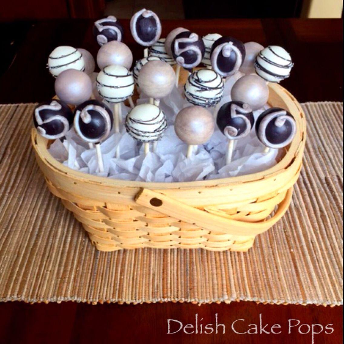 Astounding 50Th Birthday Cake Pops From Facebook Com Delish Cakepops Funny Birthday Cards Online Inifodamsfinfo