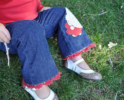 Tutorial ~ Crochet Trim Hemmed Pants | The Mother Huddle