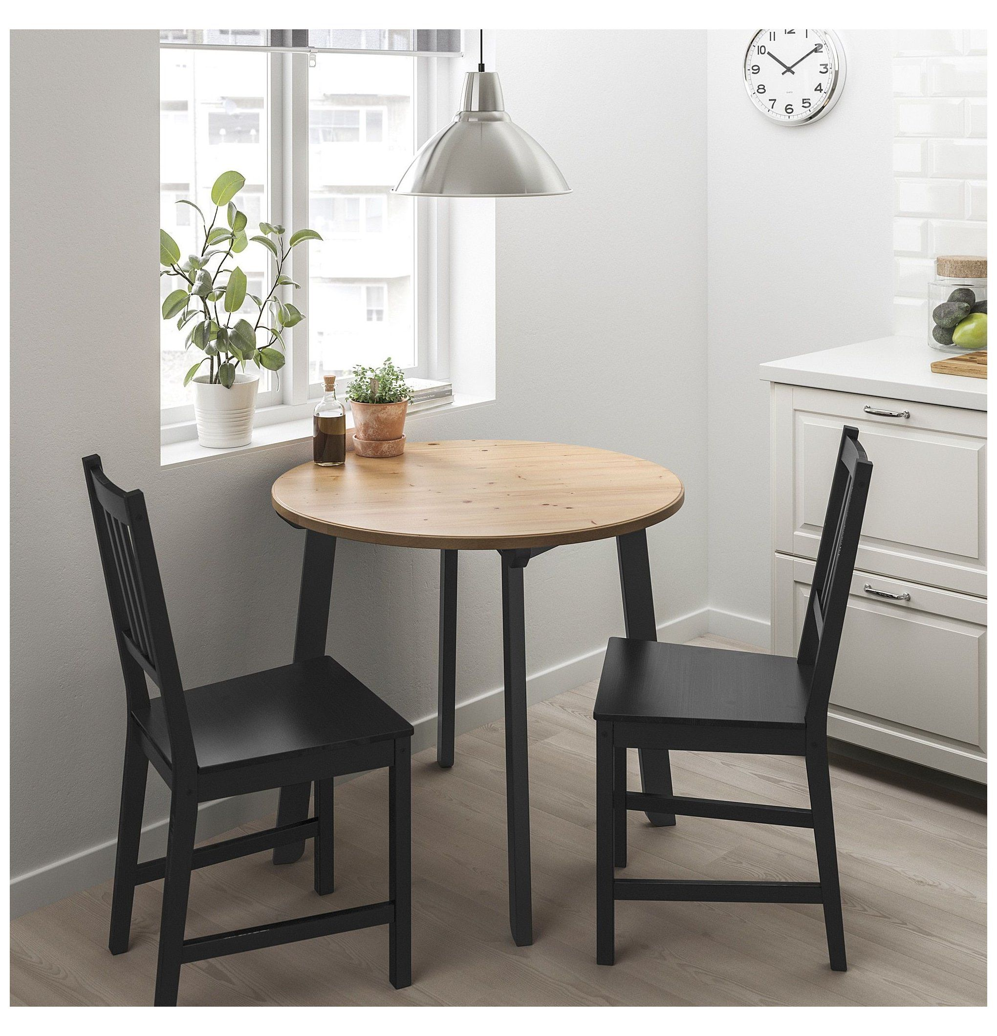 Ikea Gamlared Stefan Table And 2 Chairs Light Antique Stain Brown Black Ikea Small Dining Ta Dining Room Small Small Dining Table Small Kitchen Tables