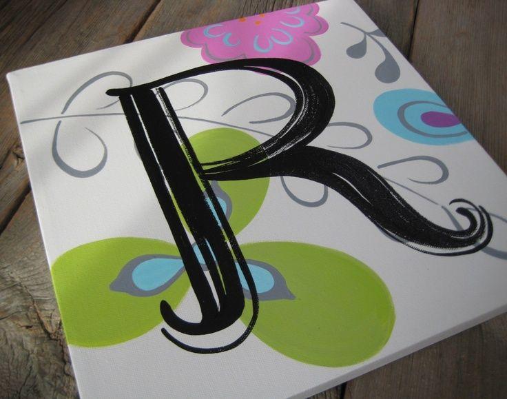 image result for canvas letter art art classes pinterest