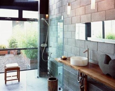 Bathroom Cinder Block Walls Design Cinder Block Walls Concrete Block Walls Bathroom Design