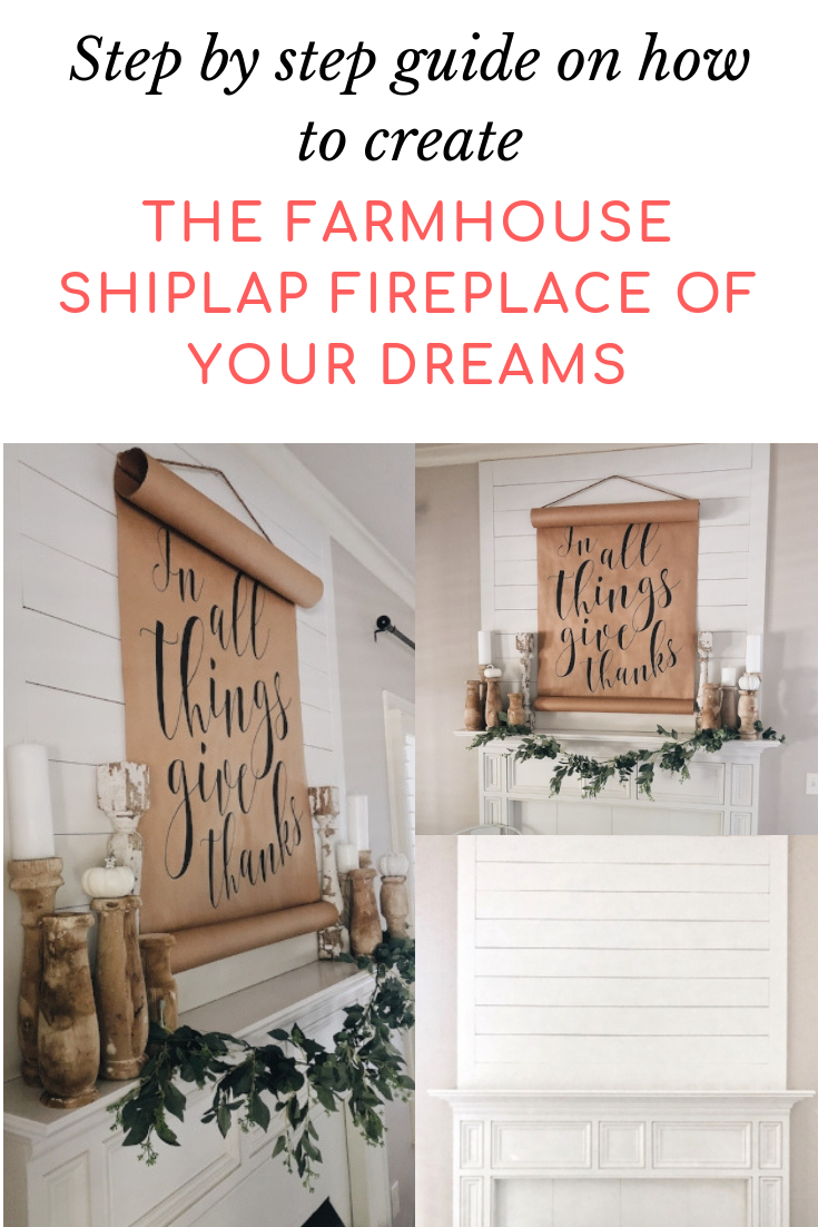 A DIY How-To For The Farmhouse Shiplap Fireplace Of Your Dreams - She Gave It A Go