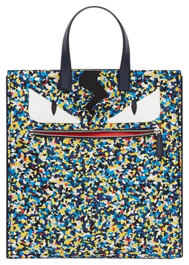 802a08ab4fd0 Fendi New Monster Eyes Confetti-print Nylon Multicolor Tote Bag. Get one of  the hottest styles of the season! The Fendi New Monster Eyes Confetti-print  ...