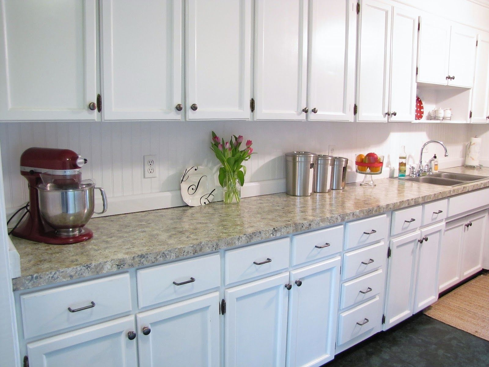 Beadboard kitchen cabinets beadboard backsplash i put up in the kitchen it was a semi easy and