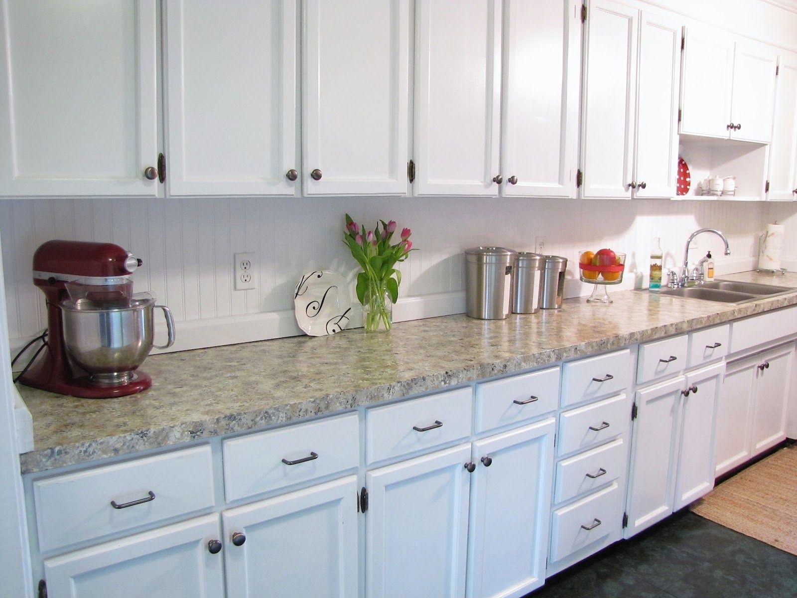 Beadboard Backsplash In Kitchen   Beadboard Kitchen Cabinets Beadboard Backsplash I Put Up In