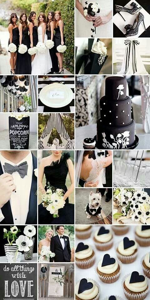 Pin By Events Beyond On Classic Blackwhite Wedding Pinterest
