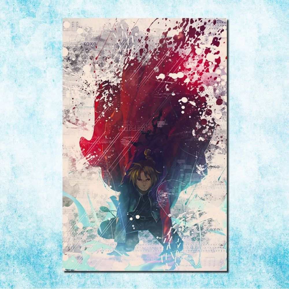 Fullmetal Alchemist Anime Fabric Art Silk Poster 13x24 24x43 inch