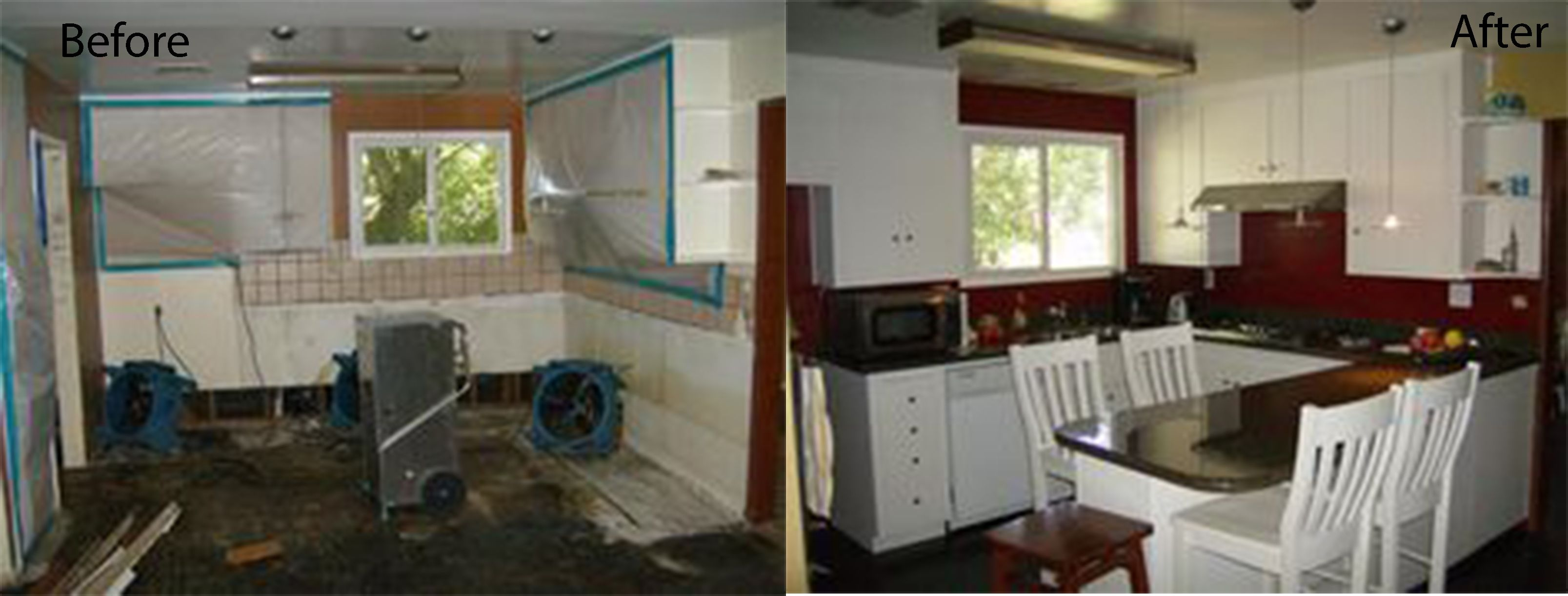 Before A Kitchen Damaged By A Water Leak That Caused Mold After Kitchen Restored To Its Pre Loss Conditio Furniture Makeover Cabinet Repair Cabinet Furniture