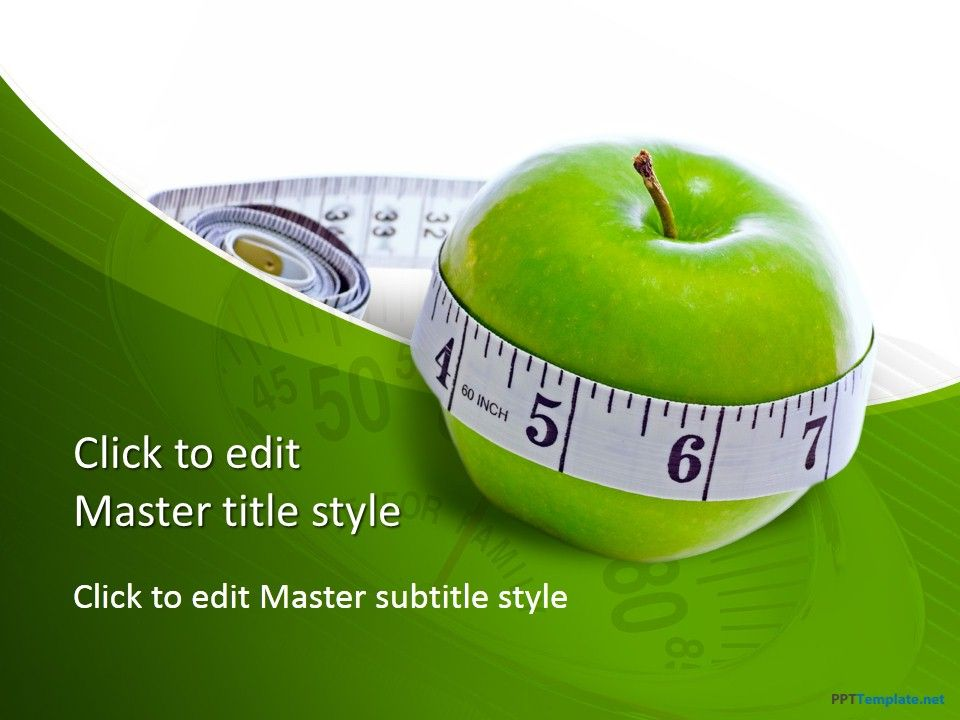 free diet measure apple ppt template | writing & learning, Modern powerpoint