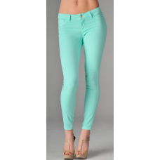 mint skinny jeans. love the color.