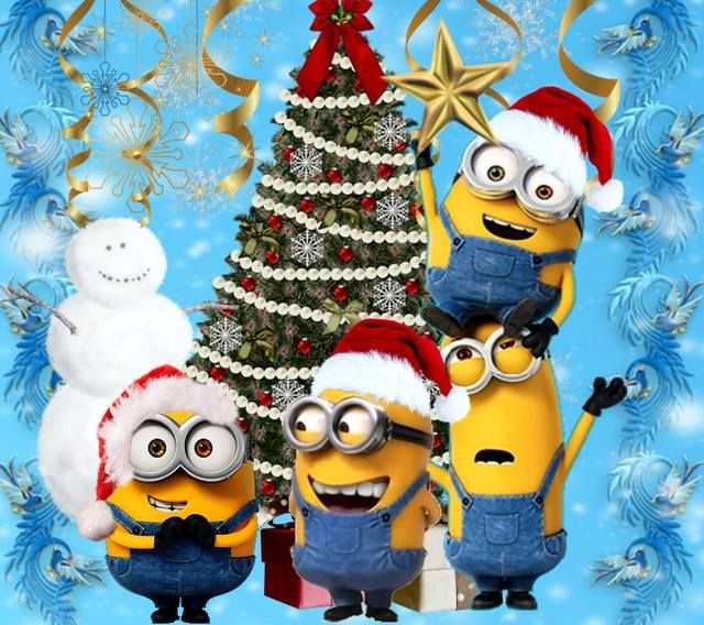 this wallpaper is shared to you via zedge - Minion Christmas Wallpaper