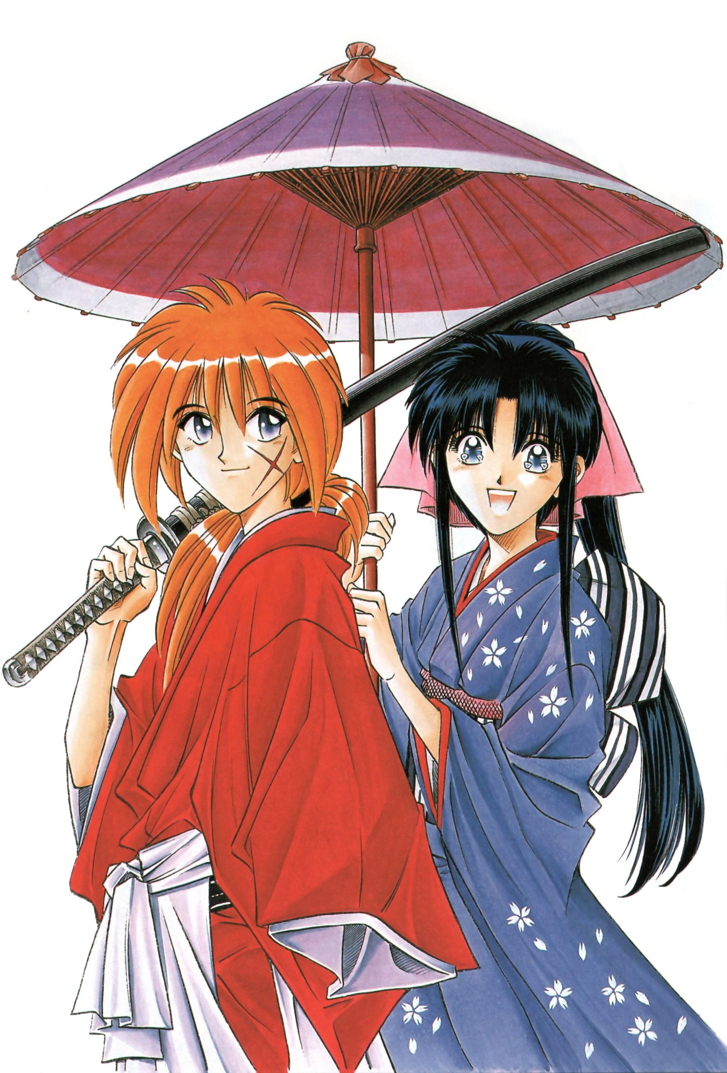 Rurouni kenshin kenshin himura and kaoru kamiya i love this show so much