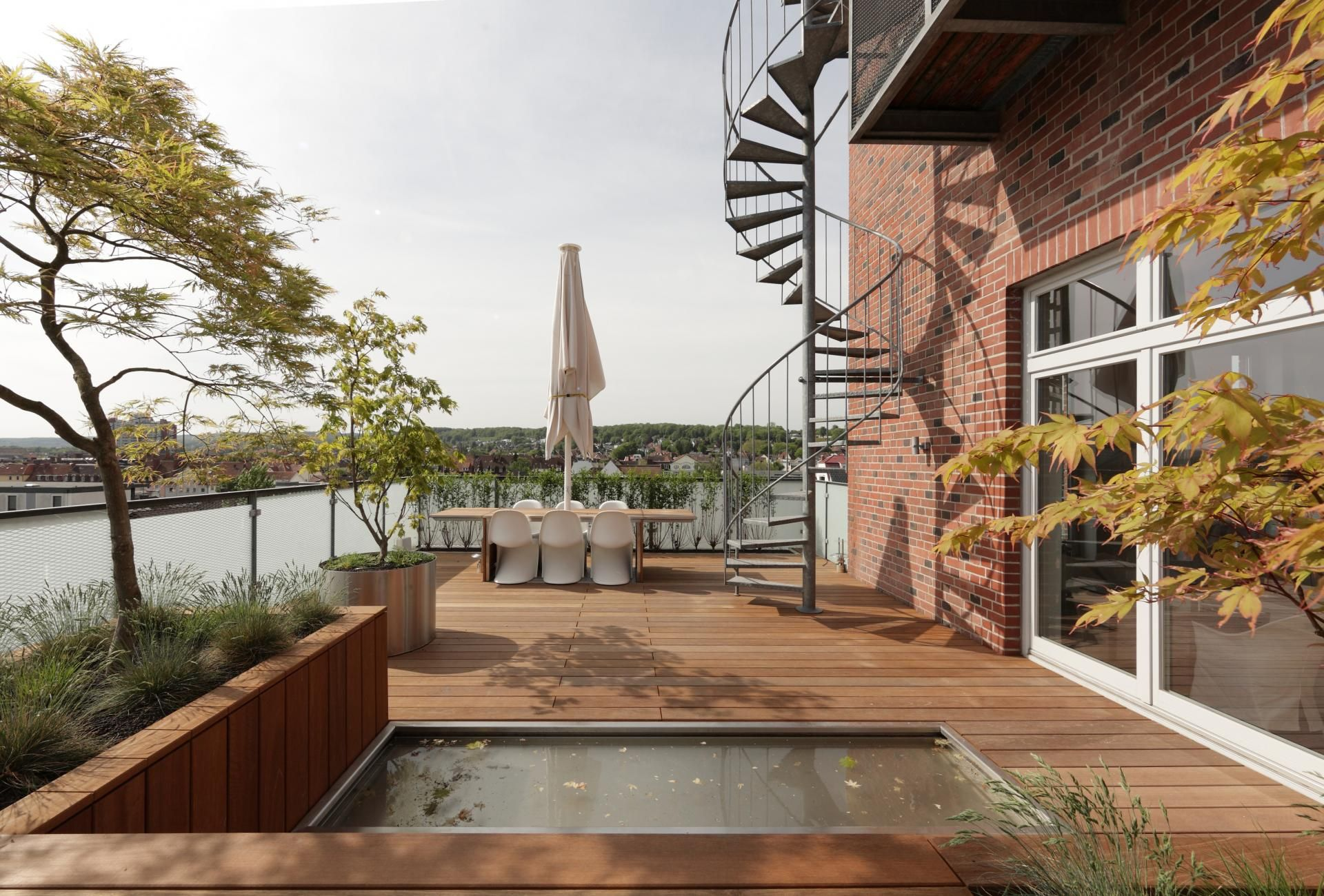 Penthouse Apartment in Bielefeld Outdoor spaces, Outdoor