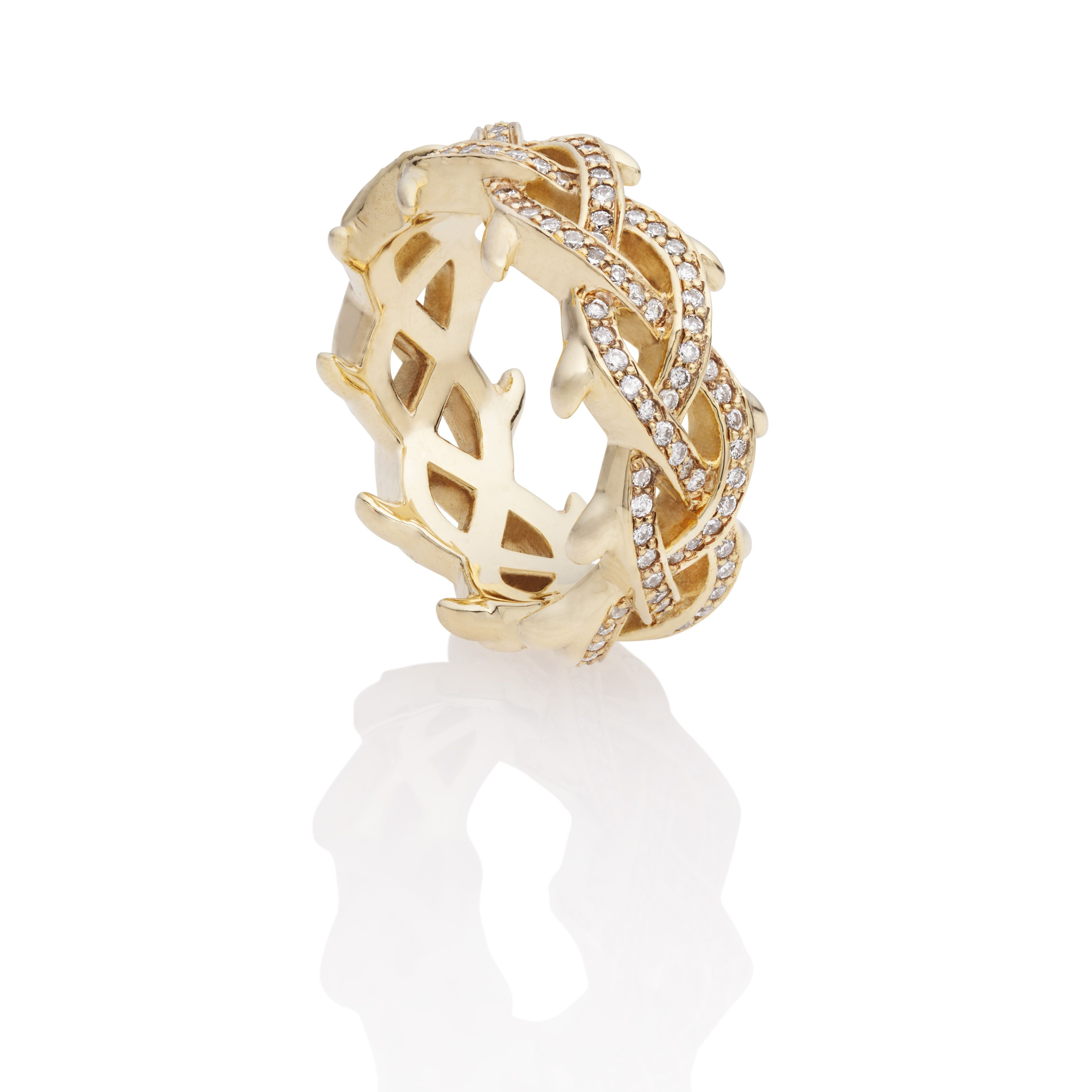 Thorn Ring Rose Gold With Diamonds Thorn By Niv Thorn Jewelry
