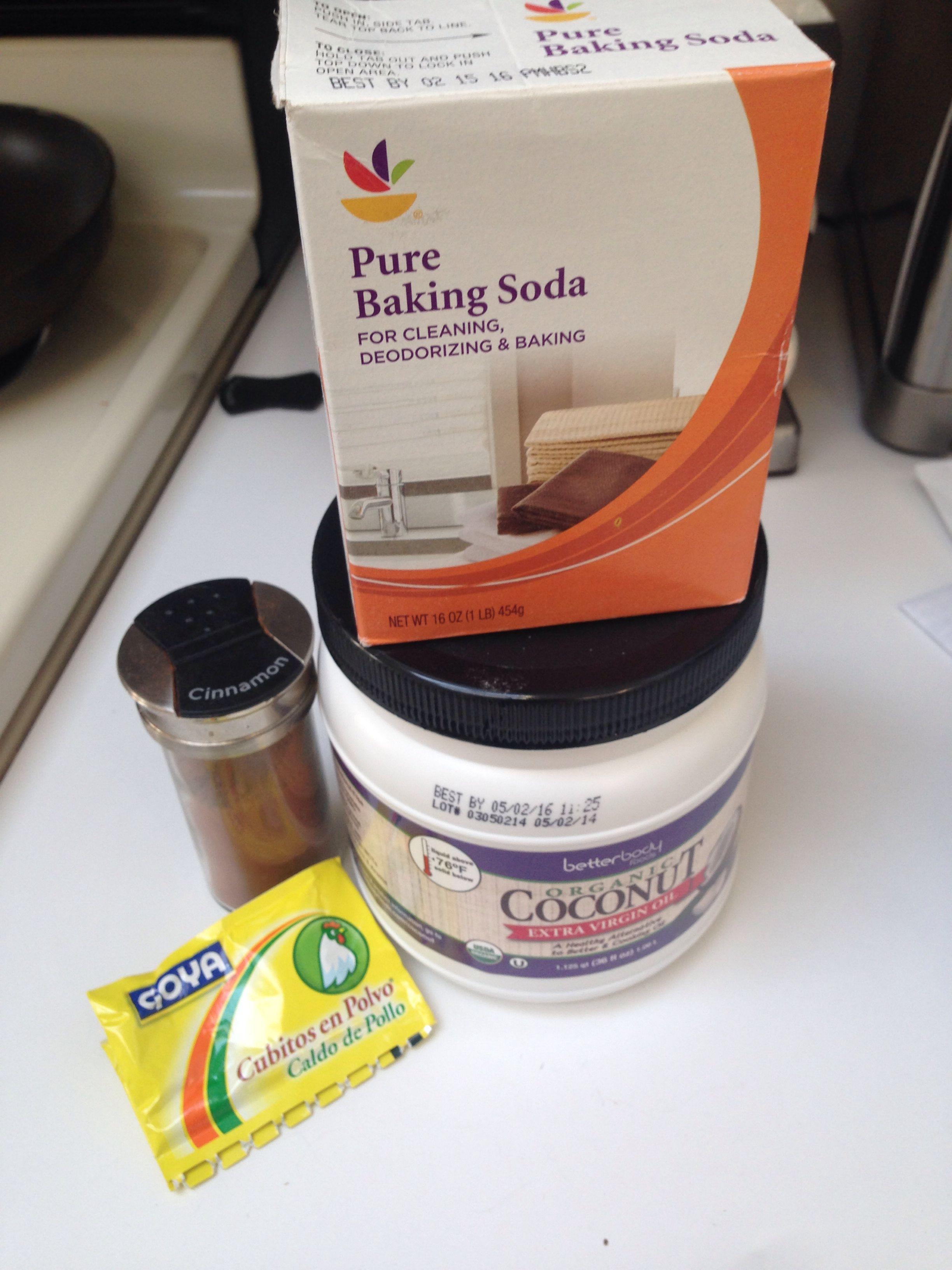Doggy toothpaste cinnamon baking soda bouillon