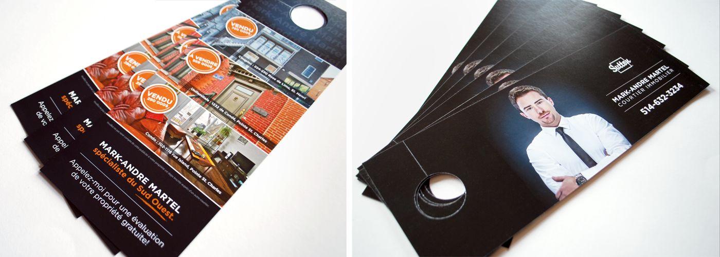 Promotional Door Hangers For Real Estate Agent In Montreal Quebec