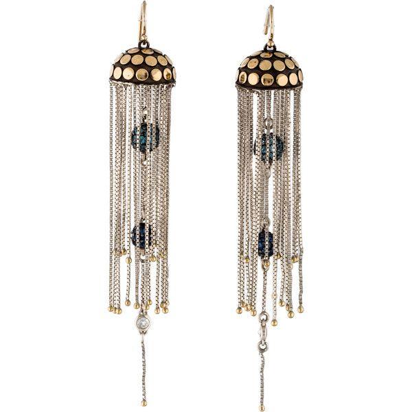 Pre-owned John Hardy Batu Dot Jellyfish Multi-Gem Earrings ($795) ❤ liked on Polyvore featuring jewelry, earrings, gem jewelry, ball earrings, john hardy jewelry, gemstone jewelry and dot earrings