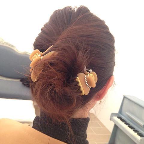 Acca青山店でクリップ使ったヘアアレンジやってもらいました Acca