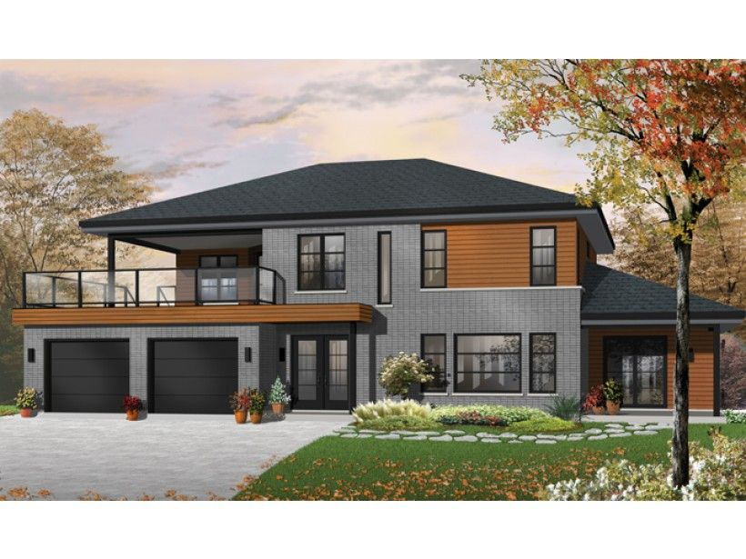 3 Level Contemporary House Plans
