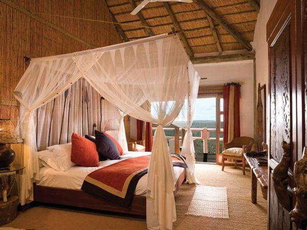 Luxurious safari lodge in the African wilderness
