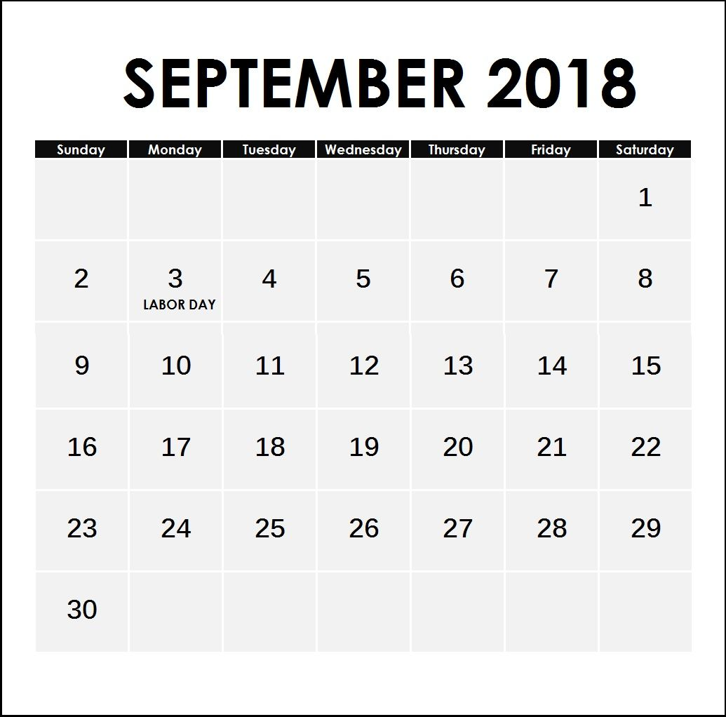 September 2018 Holidays Planner | Calendar 2018 | Pinterest