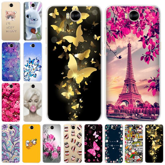 Mickey minnie mouse soft back cover for huawei y5 y6 y7