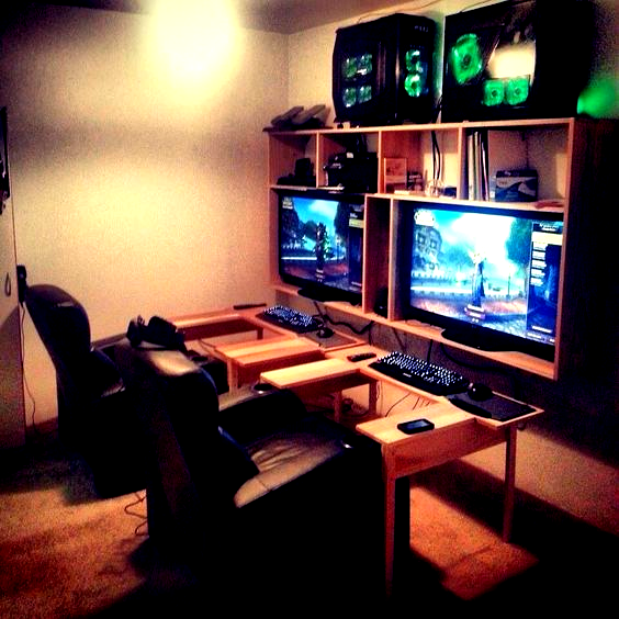 Best Video Game Room Ideas A Gamers Guide Tags Gaming Room Setup Ideas Video Game Room Ideas Basement Entertai Video Game Rooms Room Setup Dorm Room Setup