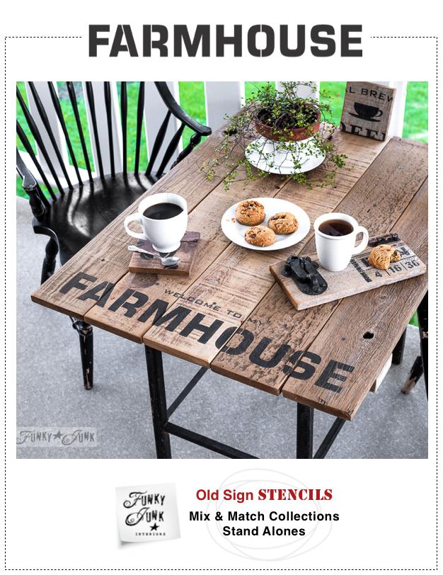 Farmhouse | Funky Junk's Old Sign Stencils | funkyjunkinteriors.net