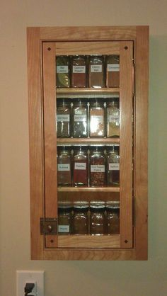 Beau Recessed Spice Cabinet With Glass Door   Google Search