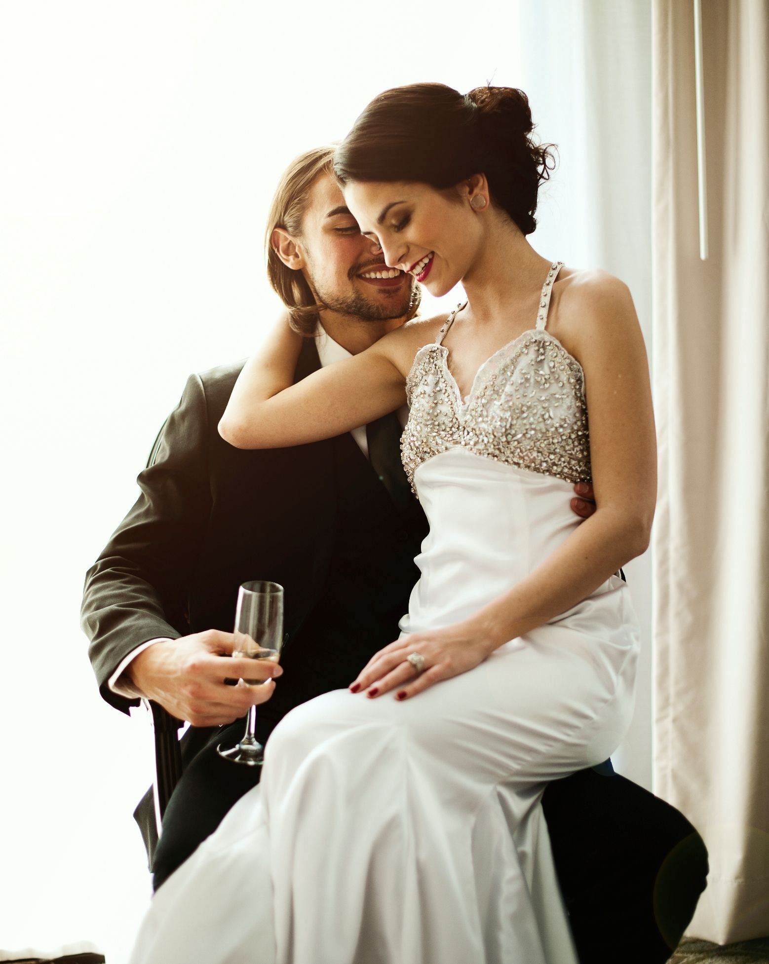 Joyful couple. Gown from Songbirds Bridal, Formal & Consignments ...