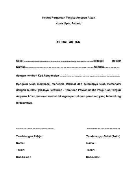 Contoh Surat Akuan Bujang Negeri Terengganu Contoh Surat