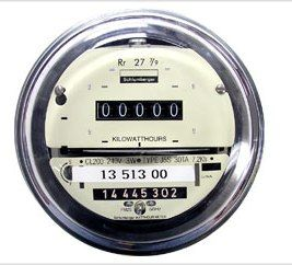 Refurbished 4 prong low profile electric meter with a