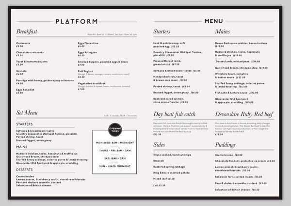 como hacer menus para restaurantes