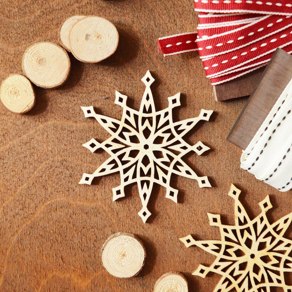 Handmade Christmas Ornament Wooden Snowflake Unique Etsy Personalised Christmas Decorations Wooden Christmas Decorations Handmade Christmas Ornaments