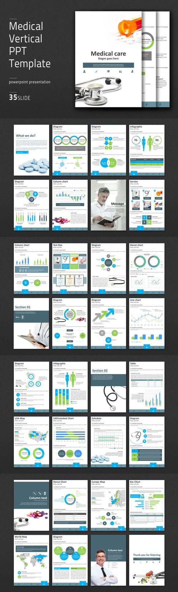 Medical vertical ppt template ppt template infographic and medical medical vertical ppt template medical infographic 4100 toneelgroepblik Gallery