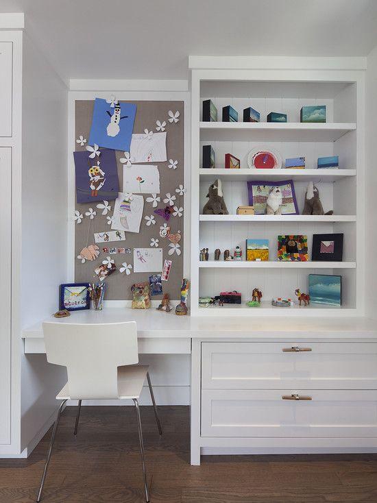 White Office Built In Design Ideas Pictures Remodel And Decor Kids Room Desk Built In Desk Small Kids Bedroom