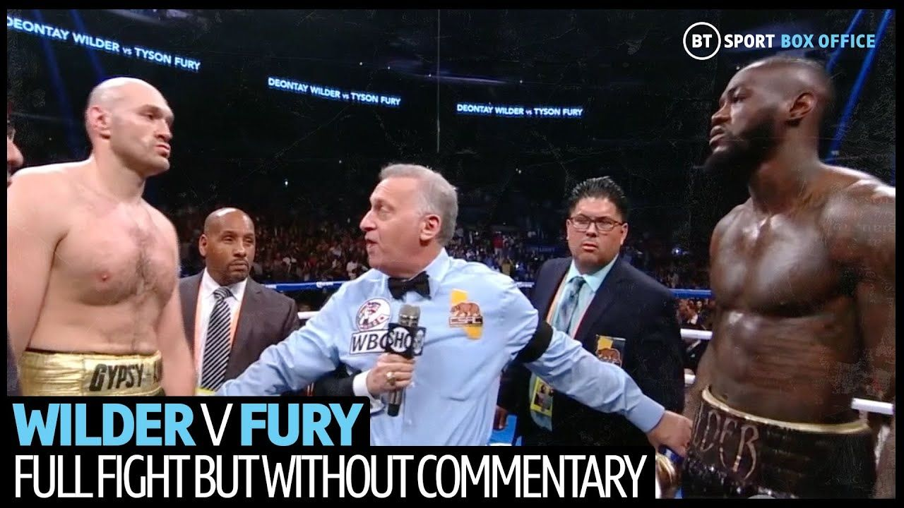 Deontay Wilder v Tyson Fury full fight without commentary