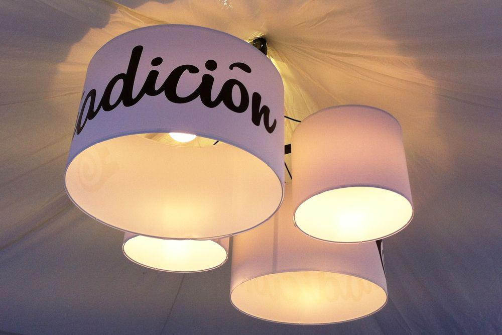 Foto de Stand Costablanca Fira de Tots Sants 2015 - Detalle de la iluminación #costablanca #stand