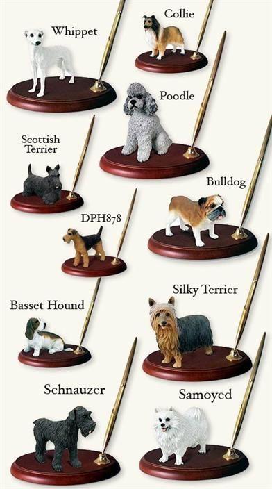 Victorian Trading Co Favorite Dog Breed  Pug Desk Pen Holder
