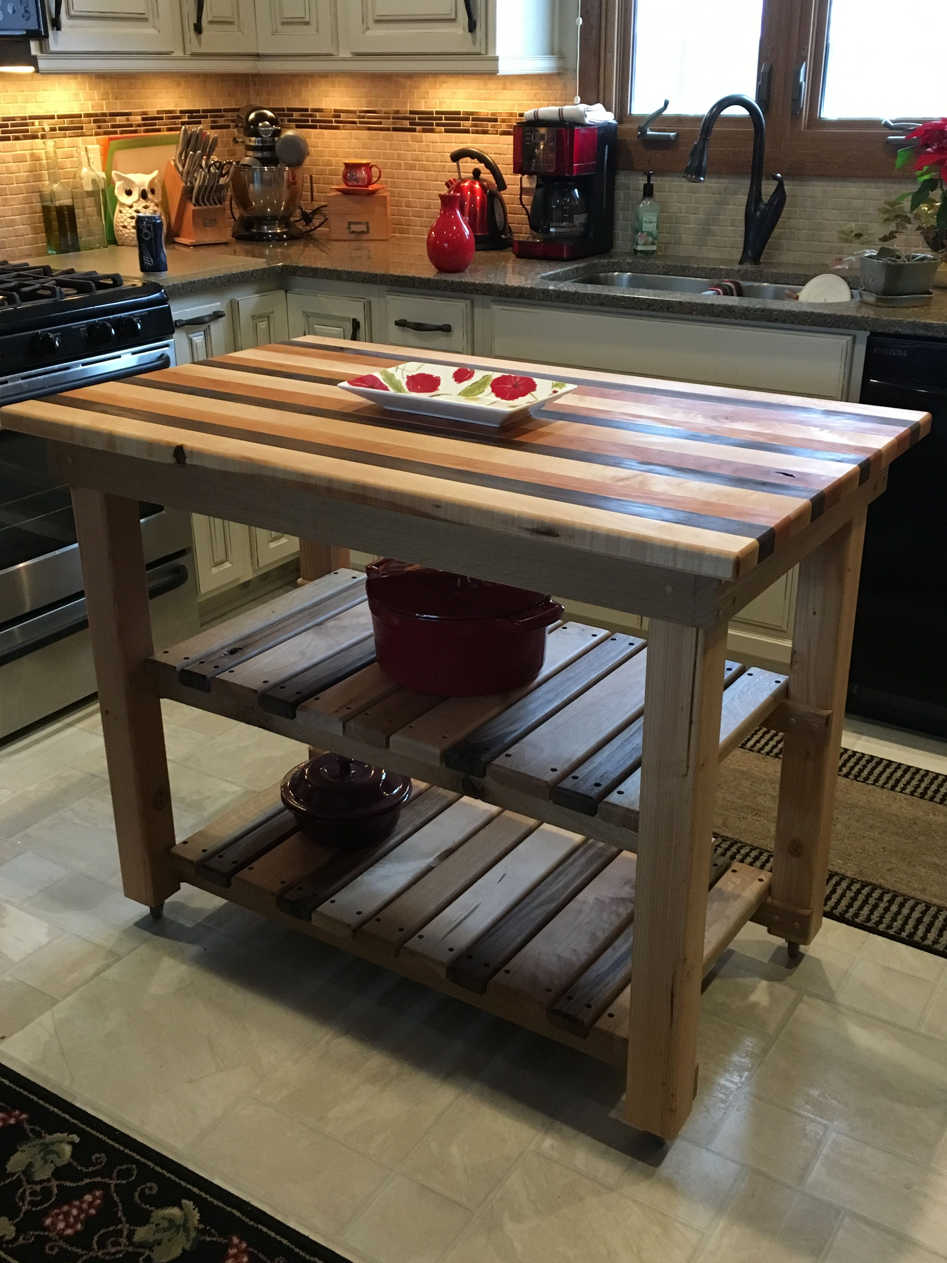hand crafted butcher block kitchen island on wheels in 2019 bed furniture furniture buyers on outdoor kitchen on wheels id=76849