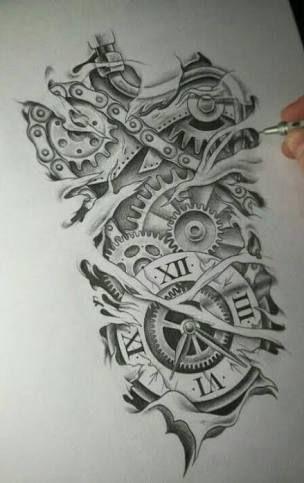 Desenho Vintage De Peças De Motos Pesquisa Google Tattoo