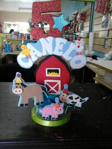 Decoración para pastel animales de la granja...