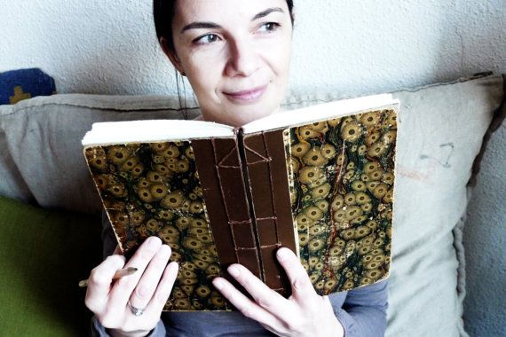 Antique French Brown and Black Marble Journal by Spellbinderie, $44.00